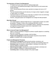 FIT2002 Lecture Notes - Lecture 6: Harvard Business Review, Cost Overrun, Whole-Life Cost