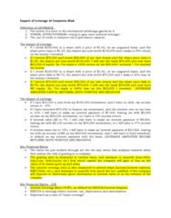 16655 Lecture Notes - Lecture 6: Mechanical Advantage, Credit Risk, Interest Rate