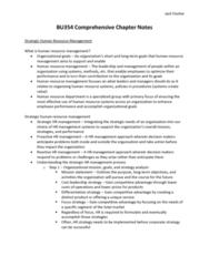 BU354 Final: BU354 Comprehensive Chapter Notes