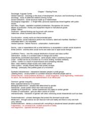 SOC100H1 Study Guide - Midterm Guide: Lumpenproletariat, Upper Class, Social Control Theory