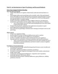 PSYC 3480 Chapter Notes - Chapter 1: Jousting, Sport Psychology, Instructional Design