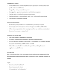 AMB319 Lecture Notes - Lecture 2: Media Market, Roy Morgan Research, Transmedia Storytelling