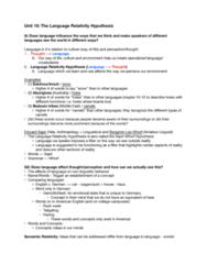 LING 115gw Lecture Notes - Lecture 10: Determinism, Color Basic, Linguistic Determinism