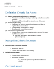 ACC2100 Study Guide - Final Guide: Current Asset