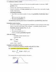 ECON10005 Chapter Notes - Chapter 3: Cumulative Distribution Function, Normal Distribution, Pareto Distribution
