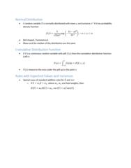 ECON10005 Lecture Notes - Lecture 5: Pareto Distribution, Skewness, Kurtosis