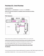 PSIO 532 Study Guide - Final Guide: Renal Blood Flow, Efferent Arteriole, Nephron