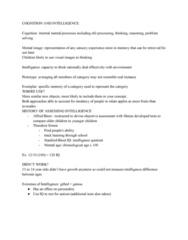 PSYC 101 Lecture Notes - Lecture 1: Intelligence Quotient, Intellectual Disability, Mental Image