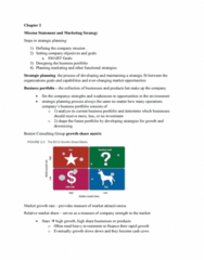 BUS 343 Chapter Notes - Chapter 2: Boston Consulting Group, Strategic Planning, Marketing Strategy