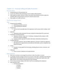 BUS 343 Chapter Notes - Chapter 14-15: Social Media Marketing, Sales Promotion, Relationship Marketing