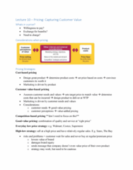 BUS 343 Lecture Notes - Lecture 10: Brand Equity, Costco, Geographical Pricing