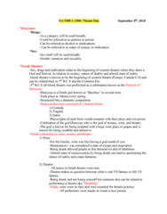 THEA 1900 Lecture Notes - Lecture 1: Common Era, Oedipus Complex, Mimesis