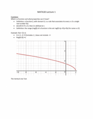 MATA30H3 Lecture Notes - Lecture 1: Even And Odd Functions