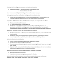 SOC 212 Lecture Notes - Lecture 7: Transformative Justice, Nils Christie, Structural Level