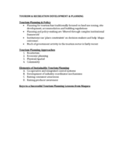 GEO 802 Lecture Notes - Lecture 10: Economic Planning