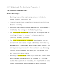SOCY 122 Lecture Notes - Lecture 2: The Sociological Imagination, Critical Theory, Standard-Definition Television