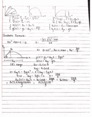 PHY 125 Lecture 8: Projectile Review
