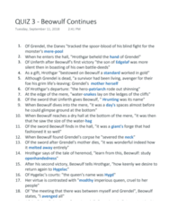 ENG 2310 Quiz: #3 - Beowulf Continues