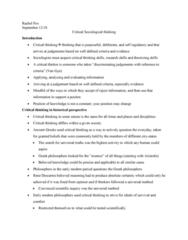 SOCY 122 Chapter Notes - Chapter 2: The Sociological Imagination, Descriptive Statistics, Quartile