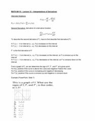 MATH-M 119 Lecture Notes - Lecture 12: Microsoft Powerpoint, Dependent And Independent Variables