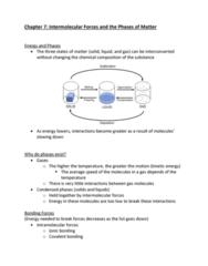 CHEM-C 101 Lecture Notes - Lecture 15: Intermolecular Force, Ionic Bonding, Covalent Bond