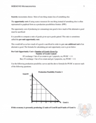 MGEA01H3 Lecture Notes - Lecture 1: Ice Pop, Opportunity Cost