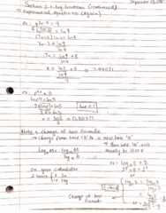 MATH 208 Lecture 7: Lecture 7 - Log functions and arithmetic/geometric sequences/series