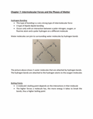 CHEM-C 101 Lecture Notes - Lecture 16: Intermolecular Force, Boiling Point, Fluorine