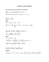 MATH 141 Lecture 14: MATH 141 - Lecture 14 - SEPT 26