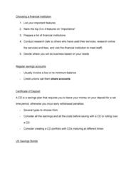 CDAE 158 Lecture Notes - Lecture 8: Financial Institution