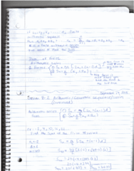 MATH 208 Lecture 8: Lecture 8 - Arithmetic/ Geometric sequences/ series (continued) and Section 3.1 : SIMPLE INTEREST