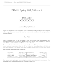PHY 131 Study Guide - Midterm Guide: Arc Welding, Dimensional Analysis, Electron Rest Mass