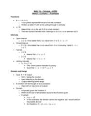 MATH 2A Lecture Notes - Lecture 1: Set Notation, Piecewise
