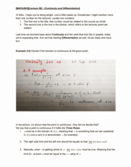 MATA29H3 Lecture Notes - Difference Quotient