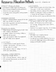 ECON 101 Lecture 11: ECON 101 001 - Lecture 11 - Resource Allocation