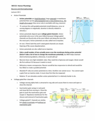 BIOC32H3 Lecture Notes - Lecture 4: Axon Hillock, Local Anesthesia, Alpha Helix