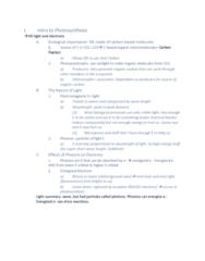 01:119:115 Lecture 9: Bio Lecture Notes W5 10/2/18