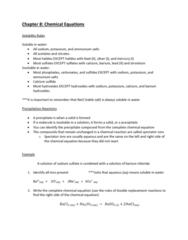 CHEM-C 101 Lecture Notes - Lecture 20: Chemical Equation, Barium Chloride, Sodium Sulfate