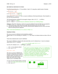 CISC 102 Lecture Notes - Lecture 12: Mathematical Induction, Injective Function, Bijection