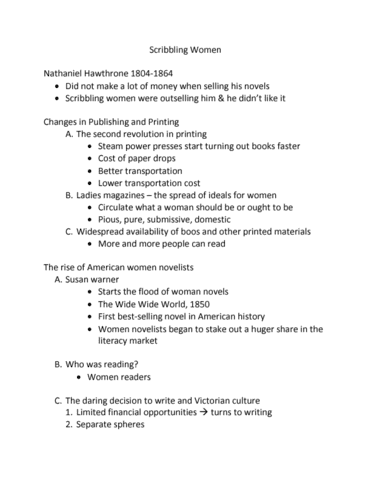 Amst 201 Lecture Notes Fall 2018 Lecture 4 Harriet Beecher