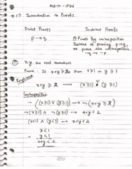 MATH 1P66 Lecture 9: Direct Proofs and Contradiction