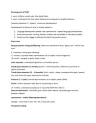 Psychology 1000 Study Guide - Executive Functions, Speech Perception, Specific Developmental Disorder