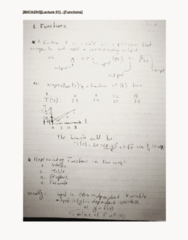 MATA29H3 Lecture 1: [MATA29H][Lecture 01] - [Functions and Equations]