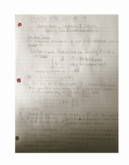 MATH 1104 Lecture 9: Vector Spaces and Subspaces