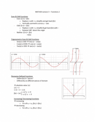 MATA30H3 Lecture Notes - Lecture 3: Piecewise