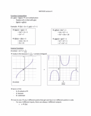MATA30H3 Lecture Notes - Lecture 4: Inverse Trigonometric Functions, Codomain, Inverse Function