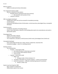 HKIN 215 Lecture Notes - Lecture 10: Sketchpad, Working Memory, Motor Skill