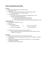 CHEM-C 101 Lecture Notes - Lecture 23: Molar Mass, Carbon-12, Unified Atomic Mass Unit