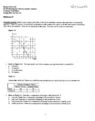 CAS EC 101 Midterm: EC101 Term Test 1 2011 Spring Solutions
