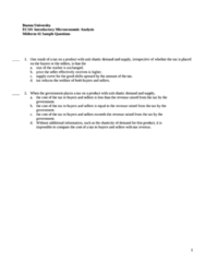 CAS EC 101 Midterm: EC101 Term Test 2 Practice